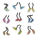 Ноги шаржа идя Стоковое фото RF