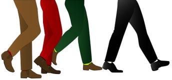 Ноги людей иллюстрация штока