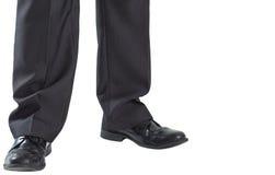 Ноги Businessmans и ботинки платья Стоковая Фотография