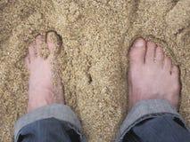 Ноги Sandy Стоковое Изображение