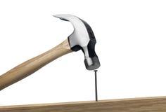 ноготь молотка Стоковое Фото