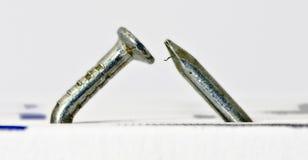 Ноготь согнутый многократной цепью серебристый #2 Стоковое Изображение RF