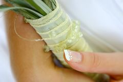 Ногти венчания стоковое фото
