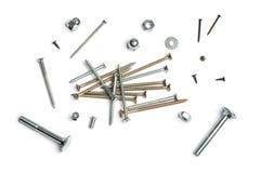 Ногти, винты, гайки - и - болты Стоковое Изображение RF