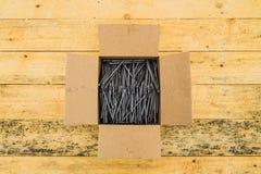 Ногти в коробке Стоковое Фото