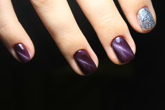 ногти Дизайн сломленного стекла Стоковые Фотографии RF