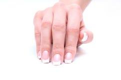 Ногти женщины Стоковые Изображения RF
