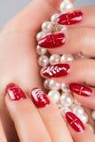 Ногти и рождество Стоковое Изображение RF