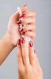 Ногти и рождество Стоковые Изображения RF