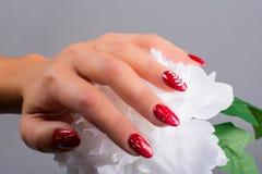 Ногти и рождество Стоковые Фотографии RF