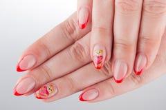 Ногти и руки Стоковые Изображения RF
