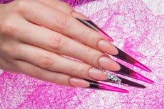 Ногти и руки Стоковое Изображение RF
