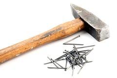 ногти молотка Стоковое Изображение