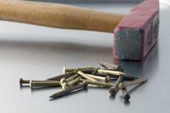 ногти молотка Стоковая Фотография