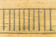 Ногти на досках Стоковые Фото