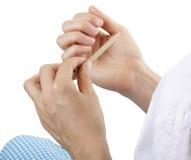 ногти опиловки Стоковые Фотографии RF