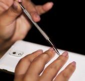 Ногти - пинк Стоковое Изображение