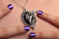 Ногти пурпура ожерелья лошади моря Стоковое Фото