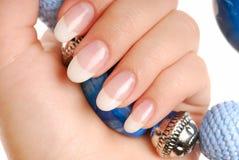 ногти роскоши красотки стоковое фото