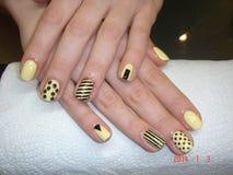 Ногти, руки, женщина Стоковые Изображения RF