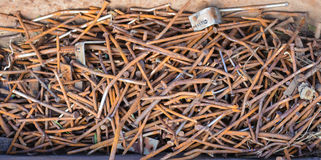 ногти складывают ржавое Стоковые Фотографии RF