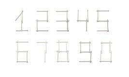 Ногти сформированные как номера Стоковое фото RF