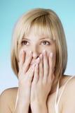 ногти ые девушкой наилучшим образом Стоковые Изображения