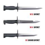 Ножи штифта для винтовок бесплатная иллюстрация