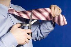 ножницы бизнесмена Стоковое Изображение