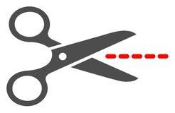 Ножницы вектора плоские выравнивают значок иллюстрация вектора