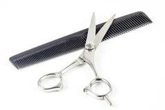 Ножницы гребня и волос Стоковые Фотографии RF