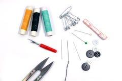 ножницы игл резьбу текстуры катышкы продели нитку инструменты Стоковая Фотография RF