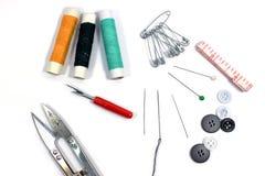 ножницы игл резьбу текстуры катышкы продели нитку инструменты Стоковая Фотография