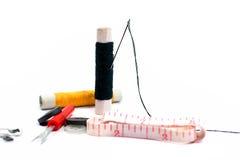 ножницы игл резьбу текстуры катышкы продели нитку инструменты Стоковое Изображение RF