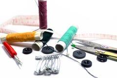 ножницы игл резьбу текстуры катышкы продели нитку инструменты Стоковое Изображение