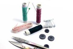 ножницы игл резьбу текстуры катышкы продели нитку инструменты Стоковое Фото