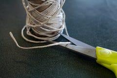 Ножницы и поток Стоковые Фотографии RF