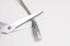ножницы кабельной сети Стоковые Изображения RF