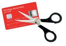 ножницы карточки изолированные кредитом стоковое изображение rf