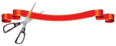 Ножницы режа знамя Стоковое фото RF