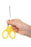 ножницы руки Стоковое Фото