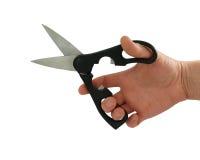 ножницы руки Стоковая Фотография