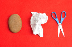 Ножницы утеса бумажные стоковое фото