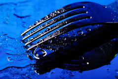нож вилки вниз Стоковые Фотографии RF