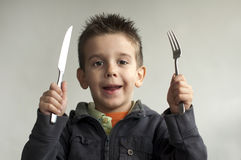 нож вилки ребенка Стоковые Фотографии RF