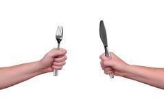 нож вилки Стоковое Фото