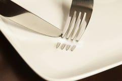 Нож & вилка Стоковое Изображение