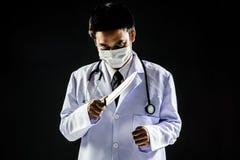 Нож владением психоза доктора серийного убийцы Стоковое Изображение RF