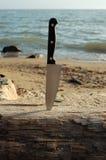 Нож в журнале Стоковое Изображение