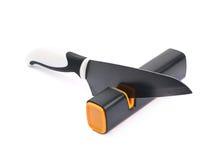 Нож в изолированном заточнике Стоковое Изображение RF